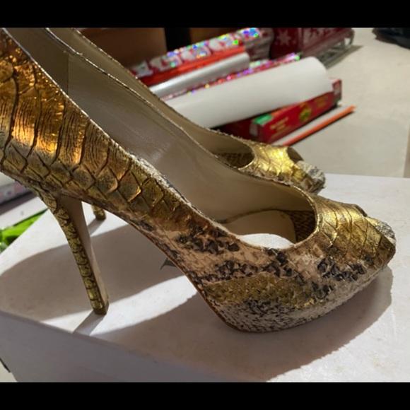Dior platform peep toe pumps